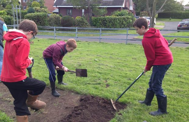Keyingham Scouts helping in the community