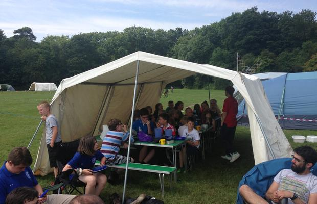 St Margarets Scouts at Camp