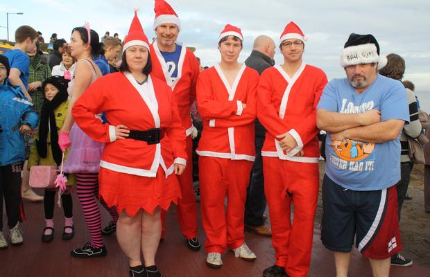 Leaders taking part in the Boxing Day Dip for Charity