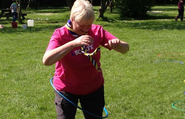 Angela Teaching Cubs How To Hula Hoop