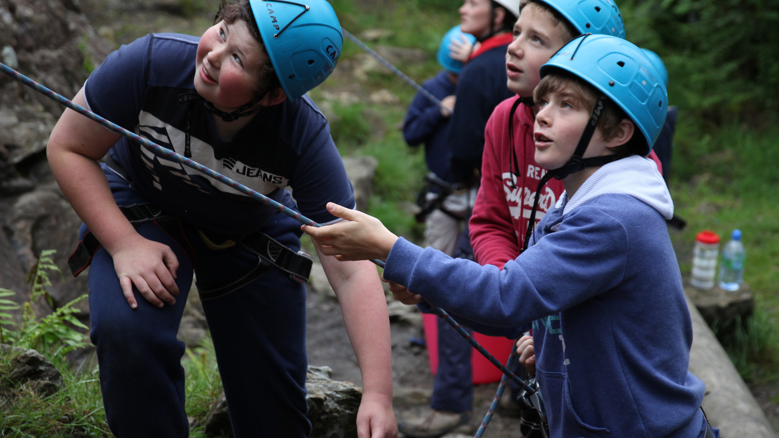 Scouts Climbing at Dalby