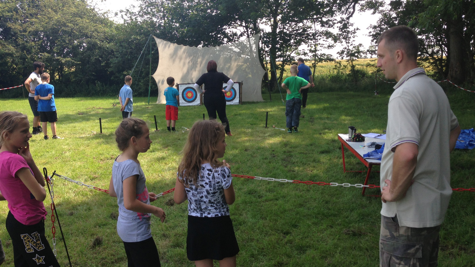 cubs on the archery range