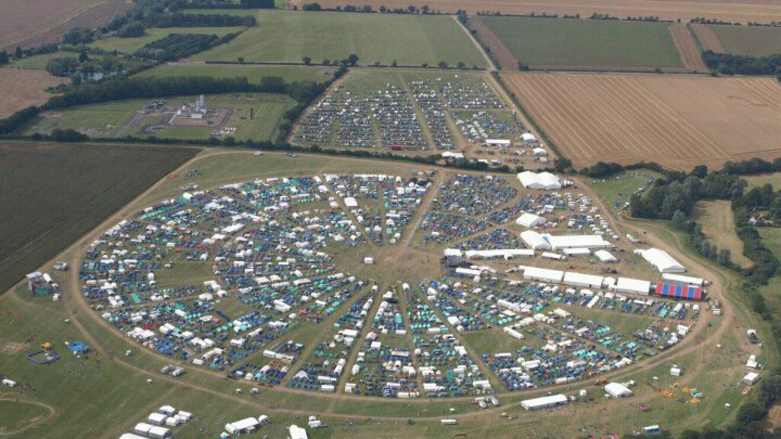 Essex Jamboree from the air