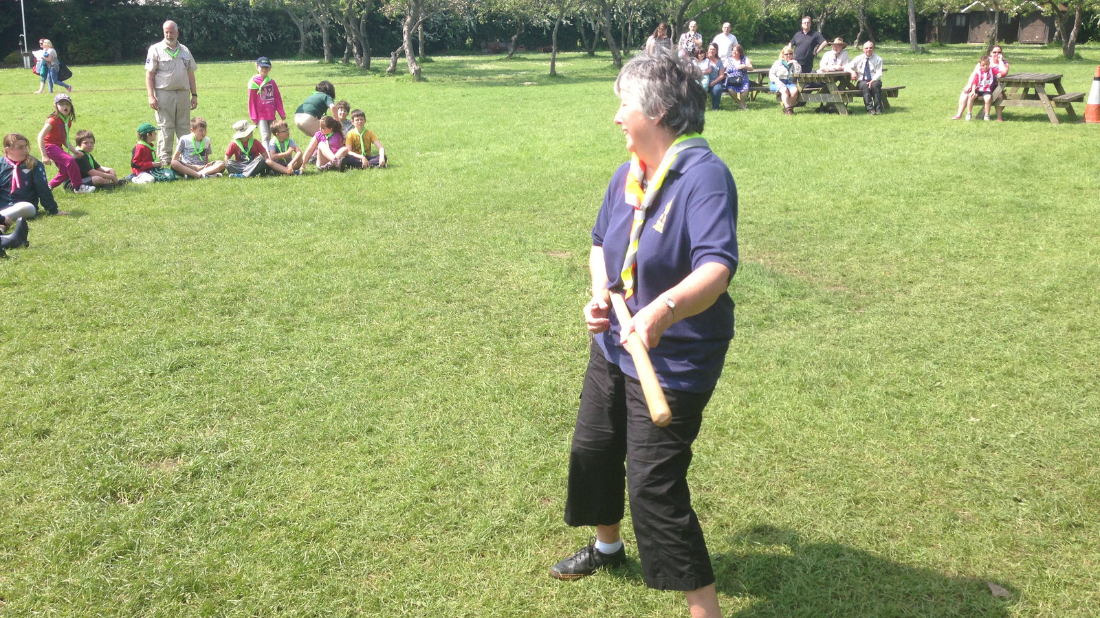 Rose Playing The Broom Handle!