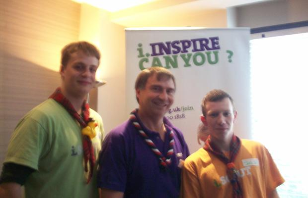 With Wayne Bulpitt - UK Chief Commissioner
