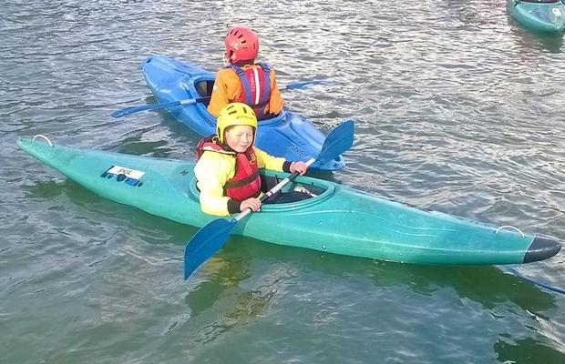kayaking at the PGL weekend