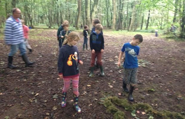 cubs making things from nature
