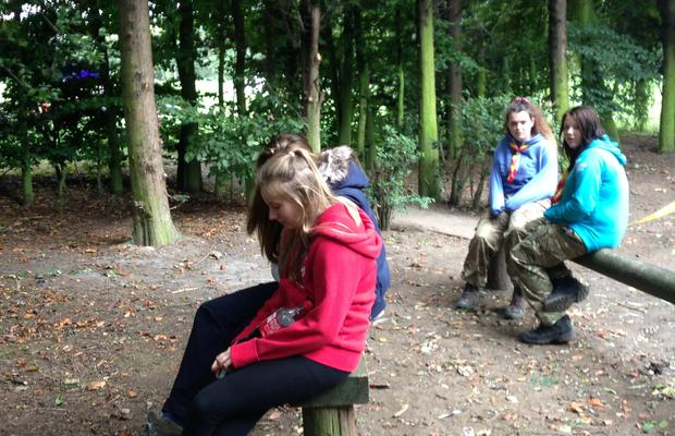 Explorer Scouts looking happy!