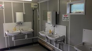 A look in the toilet block